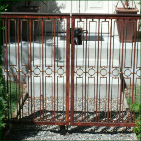 Wrought Iron Entry Gate San Mateo